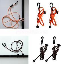 2x Durable Elastic Kayak Paddle Fishing Rod Pole Leash Bungee Cord Accessories