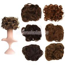 Wavy Synthetic Hair Bun Cover Hairpiece Clip in Scrunchie Hair Extension
