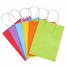MEDIUM  Color Kraft Paper Bags Gift Bags Solid Matte Colors Party Candy Bags