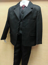 Boys Gorgeous Collection formal wedding party 5 piece waistcoat Jacket Suit
