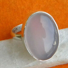 ROSE QUARTZ SOLID 925 STERLING SILVER PURE HANDMADE RING CUSTOM SIZE 5,6,7,8,9