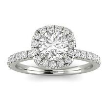 1.00ctw Diamond Halo Engagement Ring in 14k  White Gold