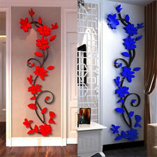 3D Flower Removable Wall Stickers Decals Vinyl Mural Art DIY Home Room Decor HS