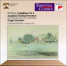 BRAHMS: SYMPHONY NO. 4; ACADEMIC FESTIVAL OVERTURE; TRAGIC OVERTURE NEW CD