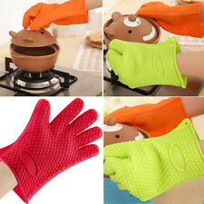 Heat Resistant Silicone Glove Oven Pot Holder Kitchen Baking BBQ Cooking Mitt