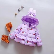 BibiCola Toddler Kids Infant Girls Strawberry Princess Jackets Outerwear 1-3T