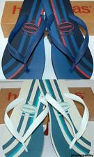 HAVAIANAS NEW Mens THONGS FLIP FLOPS TOP BASIC NAVY WHITE Surf Logo Skate Rubber
