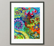 Fine Art Prints Colorful Whimisical Psychedelic Contemporary Abstract Pop Art