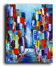 Lg. Canvas and Fine Art Prints Contemporary Painting Modern Abstract Cityscape