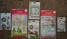 NIP ~ Christmas Embellishments Scrapbooking Cards / 3D / Frames / Tags / Envelop