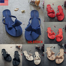 Bowknot Ladies Women Summer Casual Slides Flat Sandals Flip Flops Slippers Shoes