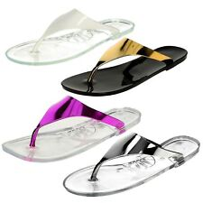 Ladies Jelly Toepost Sandals Spot On