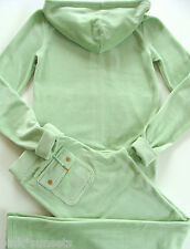 Juicy Couture Velour J Bling Hoodie Pocket Pants Tracksuit Green Track Small