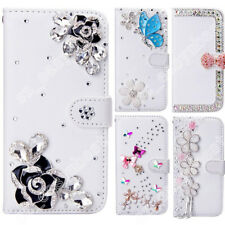 8 Patterns Rhinestone Crystal Diamond Leather Bling Phone Cases Cover for LG