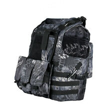 DLP Tactical Marinus FSBE Cable Release MOLLE Plate Carrier Vest with 3 Pouches