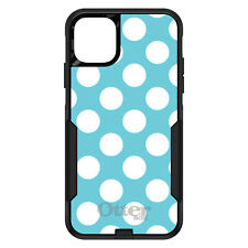 OtterBox Commuter for iPhone 5 SE 6 S 7 8 PLUS X White & Blue Polka Dots