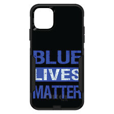 OtterBox Commuter for iPhone 5 SE 6 S 7 8 PLUS X Blue Lives Matter Law Enfrcmnt