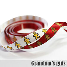"3/8""9mm Christmas Satin Ribbon 5/10/50/100Yards Hairbow Wholesale"