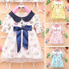 Baby Girl Long Sleeve Party Dress Floral Tulle Lace Mini Skirt Autumn Skirt 3-4Y