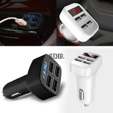 Portable 4 USB Chargers DC12V to 5V Car Chargers For IPhone 7 6S/ Galaxy KECP