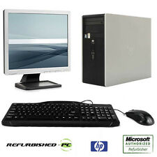 REFURBISHED HP DC5750 2.4GHz Dual Core Win 10 XP Fast PC Computer + LCD Bundle