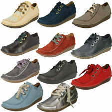 LADIES CLARKS LACE UP CASUAL FLAT MOCCASIN TROUSER LEATHER SHOES FUNNY DREAM 1