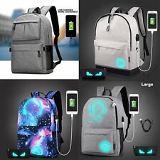 Men Women Anti-Theft Backpack Schoolbag Travel Bag USB Charging Port Daypack New