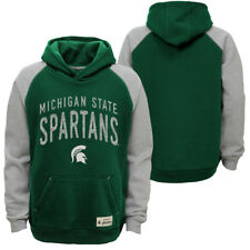 Michigan State Spartans Youth Foundation Pullover Hooded Sweatshirt - Green