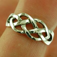 Celtic Knot Silver Ring, MIX US SIZE, 925 Plain Solid Sterling Silver,