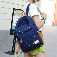 School Or Casual Backpack For Teenage Girl Cute Bright Colors Spotted Kids Bag