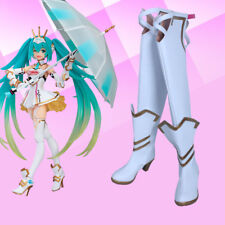 Anime Vocaloid Cosplay Hatsune Miku Cosplay Boots Shoes Racing Miku Shoes