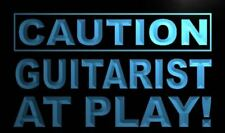 """16""""x12"""" m577-b Caution Guitarist at Play Neon Sign"""