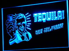 "16""x12"" j004-b TEQUILA Have You Hugged Your Toilet Neon Sign"