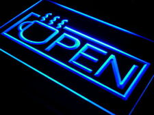 """16""""x12"""" i537-b OPEN Coffee Cup Lounge Cafe NEW Neon Sign"""