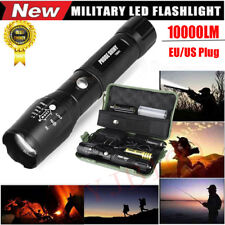 10000LM XM-L T6 Zoomable Torch Tactics Military LED 18650 Flashlight Lamp
