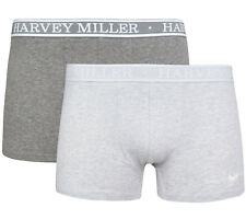 NEW Pack Of 2 Harvey Miller Polo Club Shorts Mens Boxer Shorts Underwear Grey