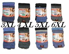 Mens BIG SIZE Billy Boxers button fly underwear Jersey boxershorts 6,12Pairs