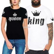 Lovers O Neck Short Sleeve Loose Imperial Print Couple Clothing T-Shirt EFFU