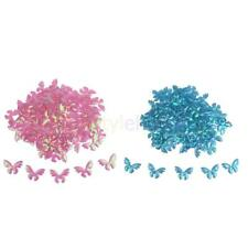 MagiDeal 100x Shiny Mini Butterflies Wings Confetti Sprinkles Baby Shower Decor