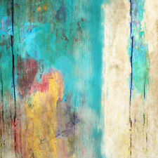 Abstract Stretched Canvas Print Wall Art Painted Grunge (square)