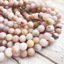 """Matte Pink Opal Round Loose Bead 6mm/8mm/10mm 15.5"""" Per Strand."""