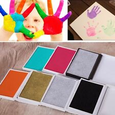 Baby Safe Inkless Touch Footprint Handprint Ink Pad Non Toxic Record Commemorate