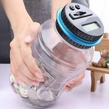 Electronic Digital Coin Counter Automatic Money Counting Jar Saving Piggy Bank