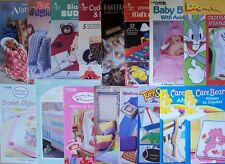 Crochet PATTERNS BABY & KID'S AFGHANS BLANKETS PILLOWS CAPES FRAMES *YOU CHOOSE
