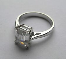 Sterling Silver small cubic zirconia pear cut solitair Ring