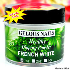 FRENCH WHITE DIP POWDER 1oz. HEALTHY GELOUS NAILS. Made in USA. Compare & Save.