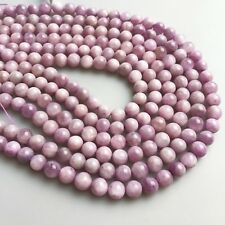 High Quality Natural Gemstone Kunzite Smooth Round Loose Beads Size 6mm/8mm/10mm