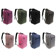 15.6' Laptop Backpack School Bag Business College Case Rucksack Travel Bag