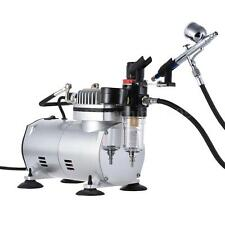 Airbrush Kit Dual Action Gravity Feed Air Compressor Crafts Hobby Art Painting