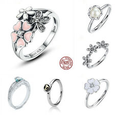 Jewelry 925 Silver Daisy Ring Heart White Topaz Wedding Engagement Size 6-10